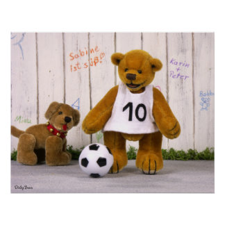 Dinky Bears Little Soccer Player Posters