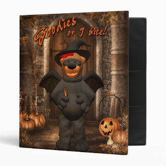 Dinky Bears Little Trick or Treat Bat Binder