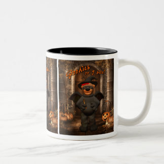 Dinky Bears Little Trick or Treat Bat Two-Tone Coffee Mug