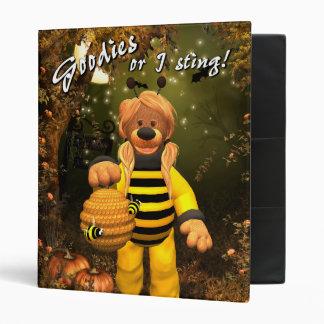 Dinky Bears Little Trick or Treat Bee 3 Ring Binder