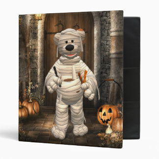 Dinky Bears Little Trick or Treat Mummy 3 Ring Binder