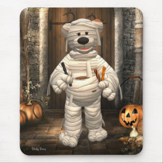 Dinky Bears Little Trick or Treat Mummy Mouse Pad