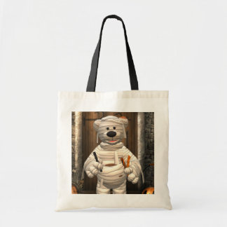 Dinky Bears Little Trick or Treat Mummy Tote Bag