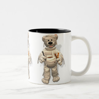 Dinky Bears Little Trick or Treat Mummy Two-Tone Coffee Mug