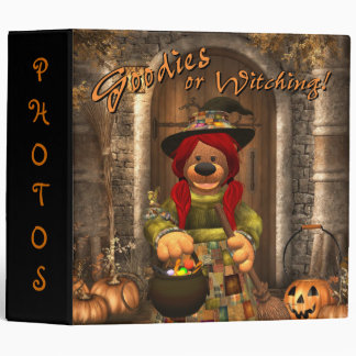 Dinky Bears Little Trick or Treat Witch 3 Ring Binder