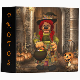 Dinky Bears Little Trick or Treat Witch Binder
