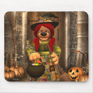 Dinky Bears Little Trick or Treat Witch Mouse Pad