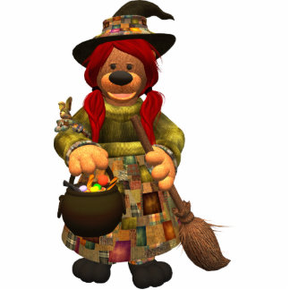 Dinky Bears Little Trick or Treat Witch Photo Sculptures