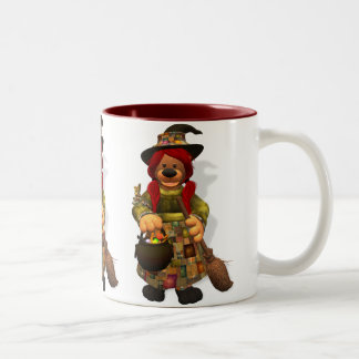 Dinky Bears Little Trick or Treat Witch Two-Tone Coffee Mug