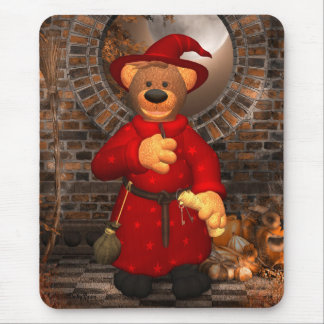 Dinky Bears Little Trick or Treat Wizard Mouse Pad