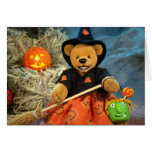 Dinky Bears Little Witch Greeting Card