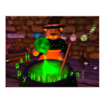 Dinky Bears Little Witch Post Card