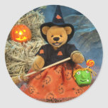 Dinky Bears Little Witch Round Sticker