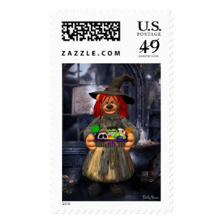 Dinky Bears Little Witch with Cookies Postage