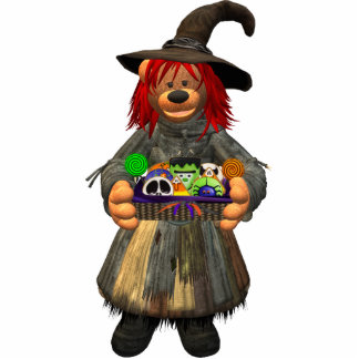 Dinky Bears Little Witch with Cookies Statuette