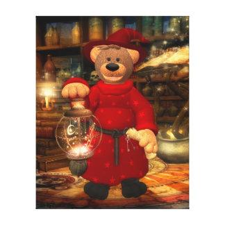 Dinky Bears: Little Wizard Canvas Print