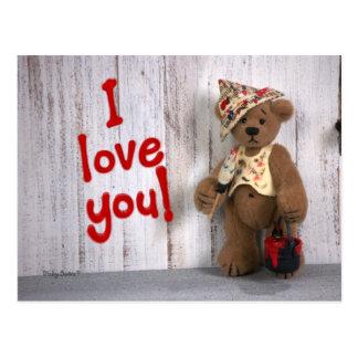 Dinky Bears: Love Postcard