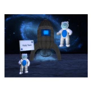 Dinky Bears: Moon Landing Postcard