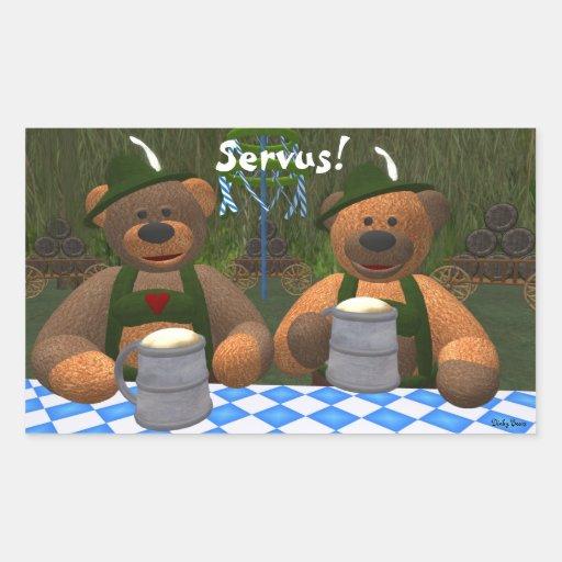 Dinky Bears Oktoberfest Rectangular Sticker