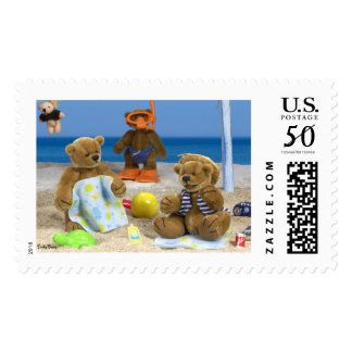 Dinky Bears on Holiday Postage