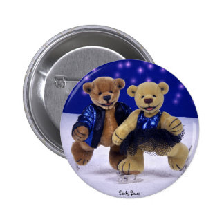 Dinky Bears on Ice Pinback Button