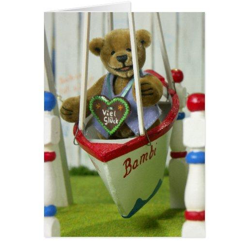 Dinky Bears on Swingboats Greeting Card