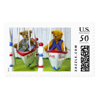 Dinky Bears on Swingboats Postage