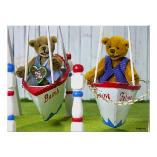 Dinky Bears on Swingboats