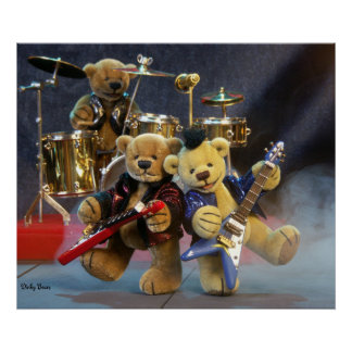 Dinky Bears on Tour Poster