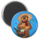Dinky Bears: Picnic Time 2 Inch Round Magnet