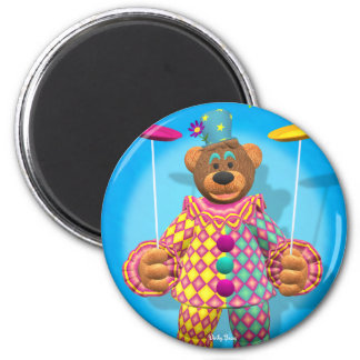 Dinky Bears Plate Spinning Clown 2 Inch Round Magnet