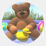 Dinky Bears Pool Fun Stickers
