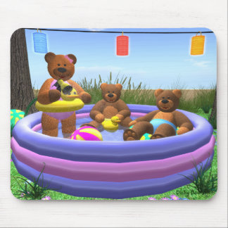 Dinky Bears: Pool Party Mouse Pad