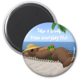 Dinky Bears: Relaxation 2 Inch Round Magnet