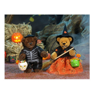 Dinky Bears Skeleton & Witch Postcard