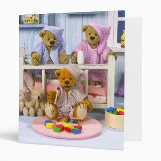 Dinky Bears Slumber Party 3 Ring Binder