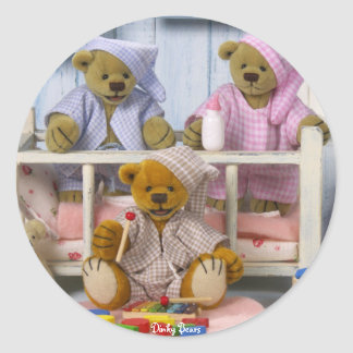 Dinky Bears: Slumber Party Classic Round Sticker