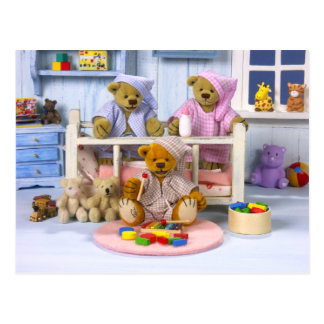 Dinky Bears Slumber Party Postcard