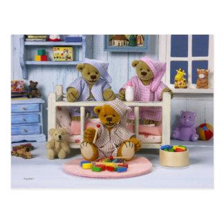 Dinky Bears: Slumber Party Postcard
