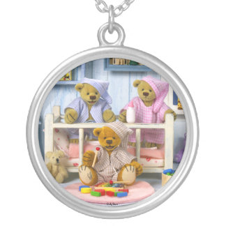 Dinky Bears Slumber Party Silver Plated Necklace