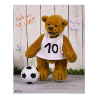 Dinky Bears Soccer Player Posters