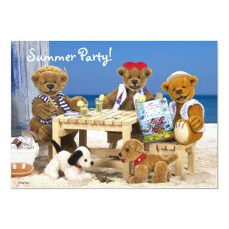 Dinky Bears: Summer Party! 5x7 Paper Invitation Card