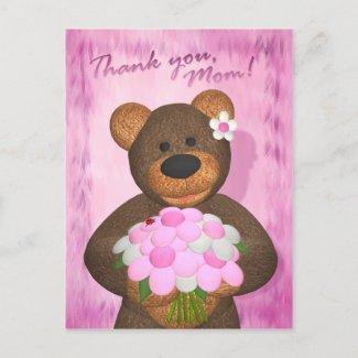 Dinky Bears: Thank you Mom postcard