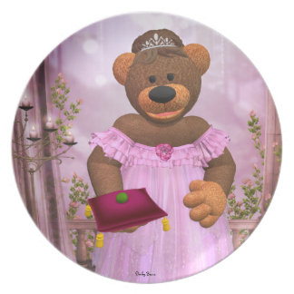 Dinky Bears The Princess and the Pea Dinner Plate