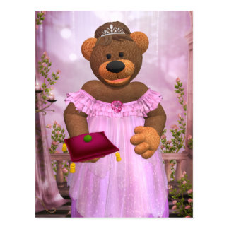 Dinky Bears: The Princess and the Pea Postcard
