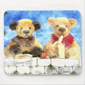 Dinky Bears Watercolor - Have a break Mouse Pad