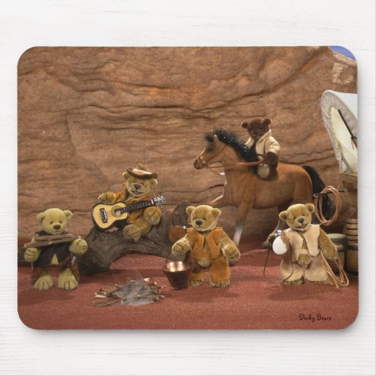 Dinky Bears: Wild West Life Mouse Pad