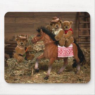 Teddys im Pferdestall