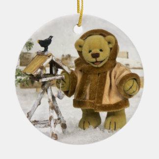 Dinky Bears Wintertime Ceramic Ornament