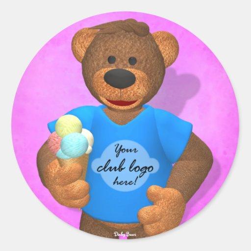 Dinky Bears: Your Club Bear! Round Sticker